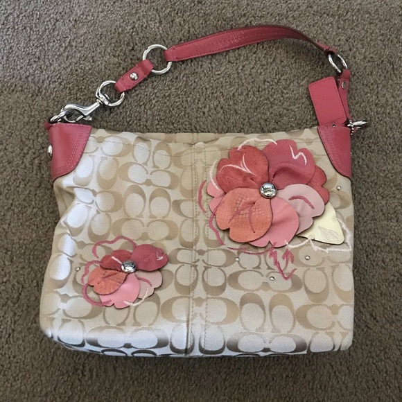 Coach Bags Purse With Pink Flowers Poshmark